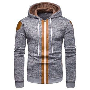 Prettymia Leisure Cap Zippered Hooded Men's Hoodies