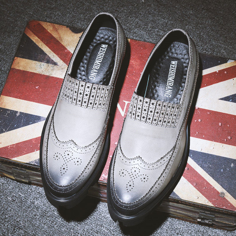Prettymia Vintage Wear Resistant Increase Men's Oxfords