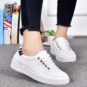 Prettymia Comfortable Breathable Lace Up Casual Shoes