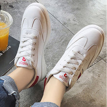 Prettymia Round Toe Lace Up Rubber Flat Casuals Shoes