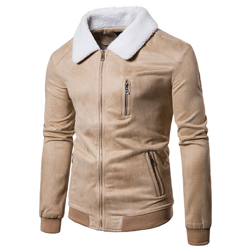 Prettymia Solid Color Solid Color Velvet Men's Jackets Coat