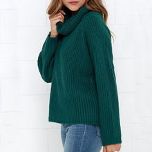 Prettymia Plain Turtleneck Raglan Sleeve Women's Sweater