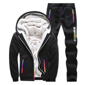 Prettymia Slim Hip Hop Long Sleeve Windproof Men's Sports Suit