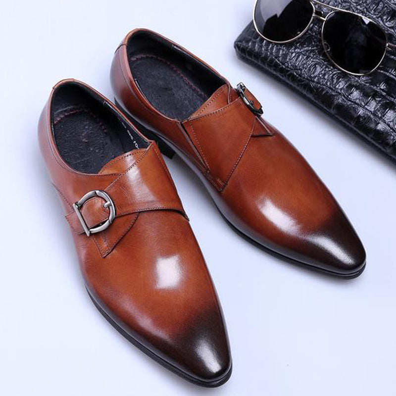 Prettymia Plus Size  Pointed-toe Oxford Men's Business Casual Shoes