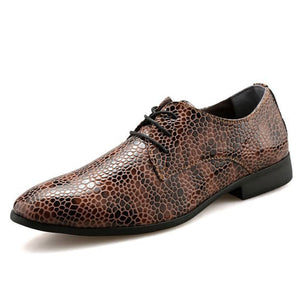 Prettymia Snake Plain Patchwork Men's Oxfords