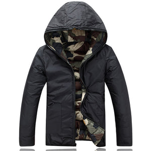 Prettymia Slim Camouflage Mountaineering European Men's Down Coat