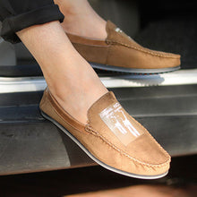 Prettymia Suede Soft Bottom Breathable Vintage Men's Loafers
