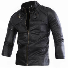 Prettymia Plain Stand Collar Casual England Punk men jacket