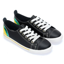 Prettymia Round Toe Lace Up Rubber Casuals Shoes