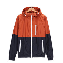 Prettymia Color Block Zipper Polyester Pocket Men's Jackets Coat