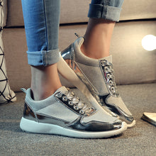 Prettymia Mesh Breathable Air Mesh Lace Up Platform Sneakers