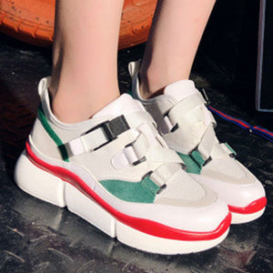 Prettymia Round Toe Buckle Casuals Shoes