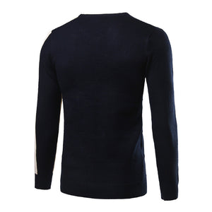 Prettymia Hit Color V-Neck Comfortable Pullover Men's Sweater
