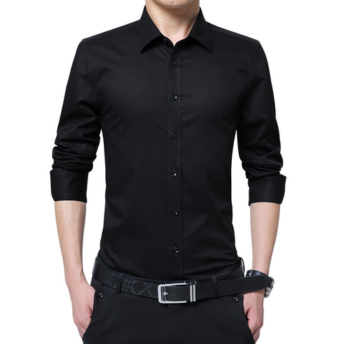 Prettymia Business Sleeves Self-cultivation Men's Shirt