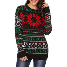 Prettymia Snowman Snowflake Color-blocked Sweaters