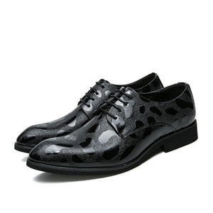 Prettymia Wear Resistant Matte Leather Party Men's Oxfords