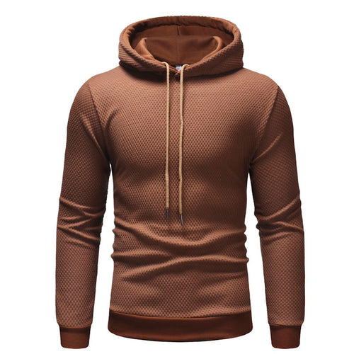 Prettymia Lattice Pattern Plus Size Pullover Men's Hoodies