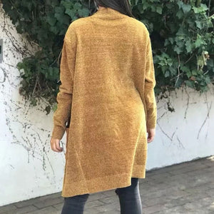 Prettymia Pure Color Pocket Long Sleeve Knitwear