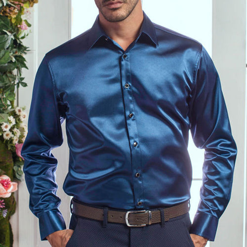Prettymia Pure Mercerized Silk-like Velvet Men's Shirt