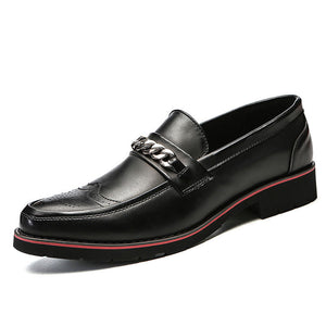 Prettymia Bullock Metal Wear Resistant Men's Formal Shoes