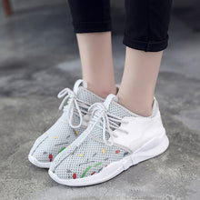 Prettymia Breathable Mesh Knit Air Mesh Lace Up Sneakers