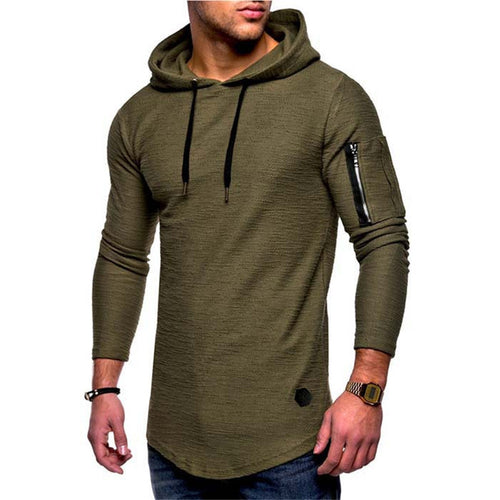 Prettymia Self Cultivation Stitching Solid Color Men's Hoodie