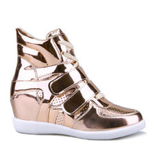 Prettymia Round Toe Lace Up Elevator Heel Casuals Shoes
