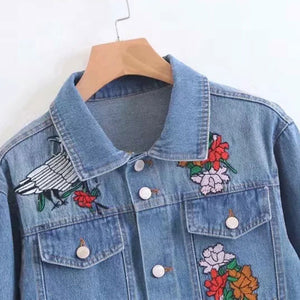 Prettymia Vintage Embroidery Single Breasted Lapel Coat