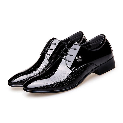 Prettymia The British Black Breathable Pointed Men's Dress Shoes