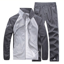 Prettymia Pattern Zipper Lapel Long Sleeve Men's Sports Suits