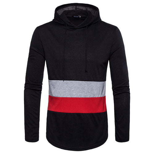 Prettymia Color Block Casual Pullover Cotton Blends Men's Hoodies