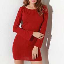 Prettymia Lace Up Patchwork Slim Pullover Bodycon Dresses