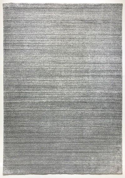 Akita Light Grey rug overall view light grey base dark grey flek horizontal texture