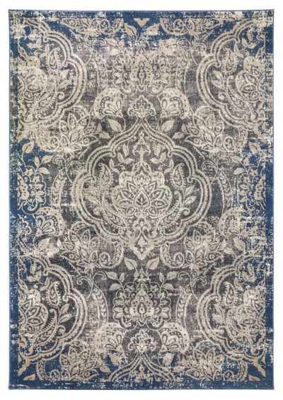 Boca 666 Grey / Blue - Area Rug Shop