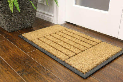 """Blocks"" Rubber Border Door Mat - Area Rug Shop"
