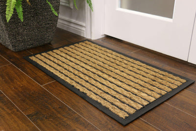 """Stripes"" Rubber Border Door Mat - Area Rug Shop"