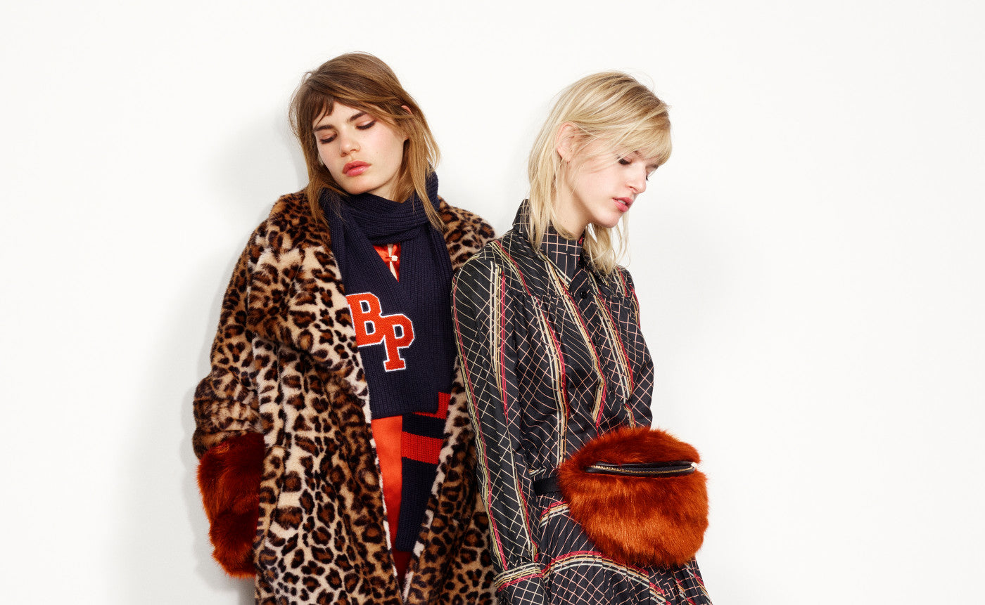 Baum und Pferdgarten AW17 Main Collection Lookbook - Leopard Jacket and Amelia Print Dress