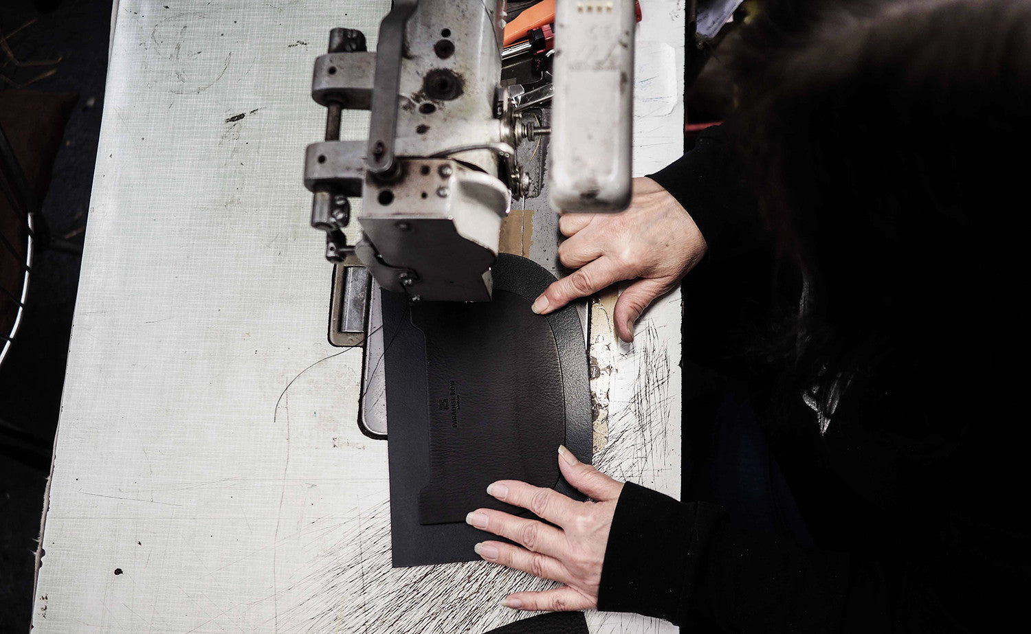Paradise Row - Heritage Story Inspiration - Design Process Leather Bags being handcrafted in East London