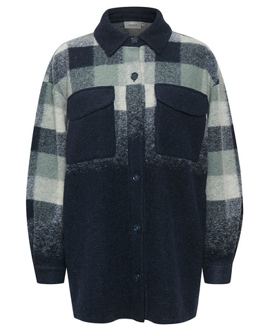 Gestuz EsinGZ Shacket Dusty Green Check