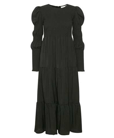 Gestuz MazziGZ Smocked Midi Dress Black