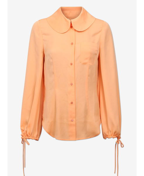 Baum und Pferdgarten. Mariquita Mock Orange Round Collar Shirt. Studio B Fashion