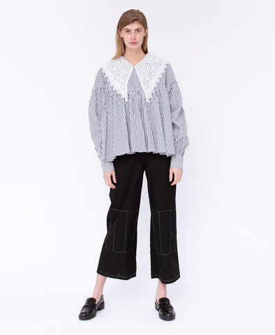 Résumé Copenhagen Valery Blouse Stripes Lace Collar
