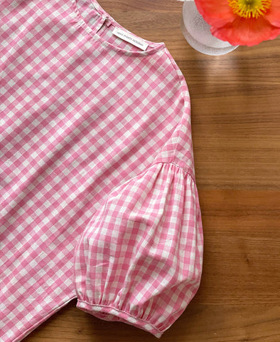 April meets October Summer May Dress Pink Gingham Exclusive