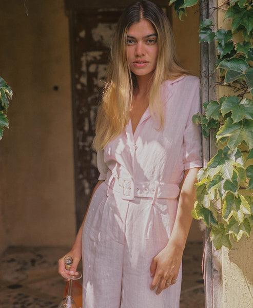 Faithfull The Brand. Frederikke Boilersuit Ice Pink. Studio B Fashion