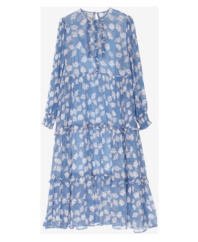 Alexandrina Blue Flowersketch Dress