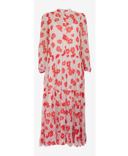 Baum und Pferdgarten - Alexandrina Red Poppy Print Dress - Studio B Fashion