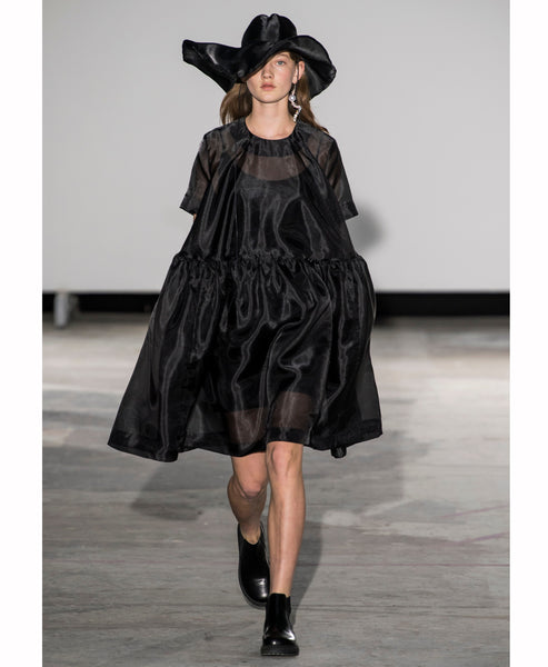 Baum und Pferdgarten - Aretha Black Oversized Chiffon Voluminous Dress - Studio B Fashion