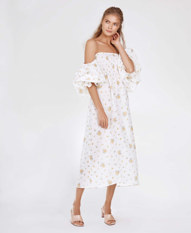 Sleeper Atlanta Linen Dress in Mimosa Print