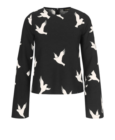 Blair Top Doves Black