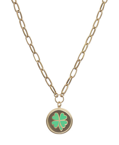 Wilhelmina Garcia Gold Clover Necklace